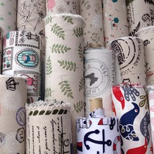 1Yard 91*148cm,Linen Print Fabric,Width148cm,Natural Linen Fabrics,Diy Handbag Doll Table Cloth Toy Sewing Patchwork Cloth