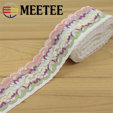 5 Yards/lot 4.5cm Stretch Color Diy Elastic Lace Manufacturers Of Clothing Accessories Wholesale(China)