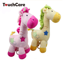 Yellow Giraffe Music Box Bell Toy Pull Mobile baby Bed Hanging Paragraph Baby Plush Toys