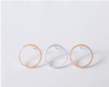 Jisensp Hot Selling Simple Circle Earrings for Women Steampunk Ear Women Round Earring Set Party Fashion Jewelry E022