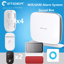Nice simply design etiger Security Box gsm&wifi intrusion fire siren alarm system lighting and sound(China)