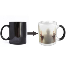 1Pc Creative Home Magic Heating Discoloration Mugs Scary Pattern Personalzied Heat Sensitive Ceramic Cups Coffee Mugs YLL1391(China)