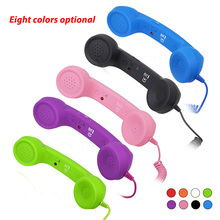New 3.5mm Retro Phone Telephone Radiation-proof Receivers Earphone Stereo earbuds Smartphone Headphone for iPhone Xiaomi Headset(China)