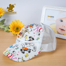 Summer Children Caps For Girls Mesh Baby Baseball Sunhat Toddler Boys Animal Patterns Hats Cartoon Adjustable Kids Beach Suncap