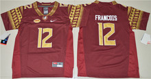 Nike Youth 2016 Florida State Seminoles Deondre Francois 12 College Ice Hockey Jerseys- Red Size S,M,L,XL