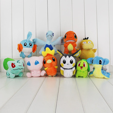 Anime Cute Dragonite Plush Toy Squirtle Bulbasaur Charmander Charizard Lugia Mudkip Licario Lapras Totodile Stuffed Doll(China)