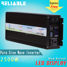 Reliable LED Display High frequency 2500W Off Grid inverter Pure Sine Wave solar power inverter 12V 220V dc ac power converter