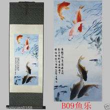 "40""Chinese SuZhou Silk Art Phoenix Bird Silk Decoration Scroll Painting"