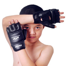 Kids Children half finger Boxing Gloves Mitts Sanda Karate Sandbag Taekwondo Protector Age 3-12