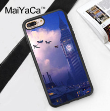 Peter Pan Big Ben London Neverland Phone Case Coque For iPhone 6 6S Plus 7 7 Plus 5 5S 5C SE 4 4S Rubber Soft Cell Housing Cover