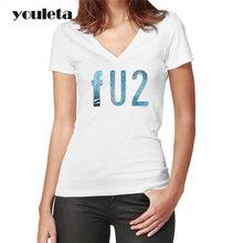 2018 mujeres camiseta u2 Casual Tops nueva Arrieved Hiphop Streetwear mujer  moda Camiseta cómoda(China 22c708481f8a2