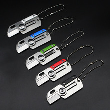 Mini Portable Dog Tag Knifes Camping Survival Rescue Fold Hunting knife Outdoor Identification Folding Tactical EDC Key chain Ri