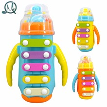 MQ Children's Knock Piano Music Initiation Toy Bottle With Bell Baby Early Education Instrument - Random Color