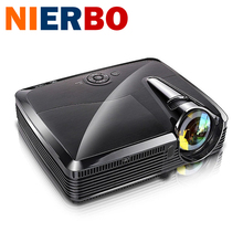NIERBO Business Projector Full HD Short Focal High Brightness for Business Teaching Education Active Shutter 3D DLP Projectors