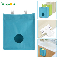 New Practical Kitchen Cupboard Garbage Hanging Storage Bag Waterproof Sack Holder Organizer with Hook for Door Drawer Cabinet(China)