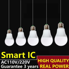 LED Bulb E27 LED Lamps B22  110V 220V 230V240V Light  Bulb Smart IC Real Power 3W 5W 7W 9W 12W 15W High Brightness Lampada LED
