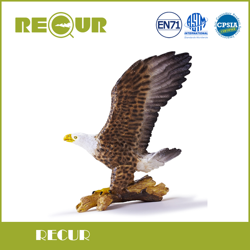 Recur Bald eagle High Simulation Model Hand Painted PVC Toy Wild Animal Action Figures Soft Toy Collection Gift For kids<br>
