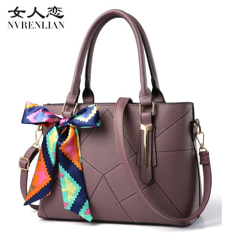 NVRENLIAN Fashion 100% Real Genuine PU OL Style Women Handbag Tote Bag Ladies Shoulder Bags Wholesale price<br>