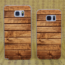 B4423 Wood Planks Horizontal Transparent Hard PC Case Cover For Samsung Galaxy S 3 4 5 6 7 Mini Edge Plus Note 3 4 5 7