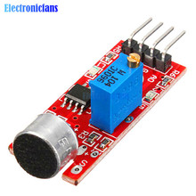 High Sensitive Microphone Sound Sensor Detection Module For Arduino AVR PIC 5V DC Power Supply Analog Output Module