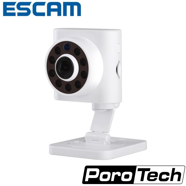 2017 New Arrivals White ESCAM Wall E QF601 2.8MM Lens 720P CMOS Sensor Wireless WiFi Indoor Motion Detection IP Network Camera<br><br>Aliexpress
