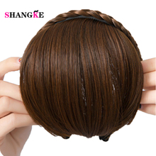 Buy SHANGKE Short Braid Hair Bangs Natural Fake Hair Pieces Heat Resistant Synthetic Bangs Women Braid Hairstyles Fake Hair for $7.58 in AliExpress store