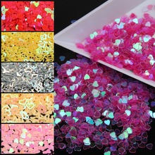 10g/piece Hot Sale Acrylic Nail Kit UV Gel Heart Nail Glitter Dust 3D Nail Art Tip Decorations Beauty Make Up Nail Stikcers(China)
