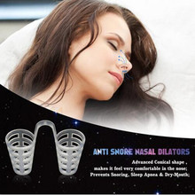 Anti-Snoring Anti Snore Apnea Nose Clip Breathe Aid Stop Snore Device Sleeping Aid Equipment Stop Snoring Magnetic Healthy Care(China)