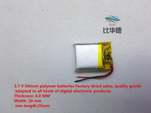 (free shipping)(2pieces/lot)042025 150mah lithium polymer battery quality goods quality of CE FCC ROHS certification authority