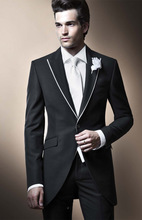 Customized for PROM dress black groomsman wedding the groom, holds the men/form/groom (coat + pants + tie + vest)