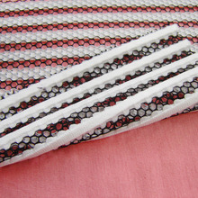 1 yard New French 3D Striped Hollow Double Color Mesh Fabric Designer Classic  Honeycomb Openwork Apparel DIY Sewing Cloth Tissu