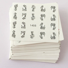 50 sheets Beauty Floral Design Water Transfer Nail Art Sticker Watermark Foil Wraps Decal DIY Decoration Nail Tool SAXF1422-1469(China)