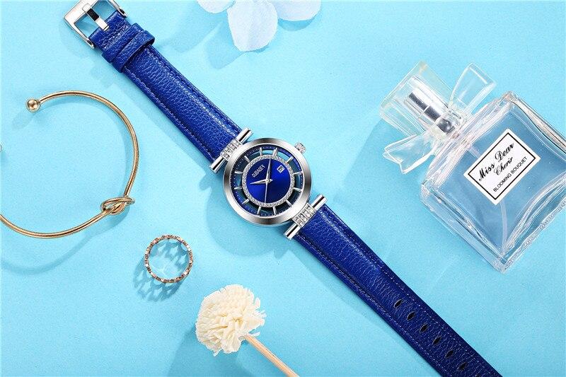 OUBAOER Original Montre Femme Dress Watch Women Luxury Ladies Watches Genuine Leather Wristwatch for woman Female Relogio Reloj