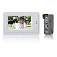 "Free shipping Wholesale Apartment 7"" Video Intercom Door Phone Entry System 1 Monitors + 1 Doorbell Camera IN Stock"