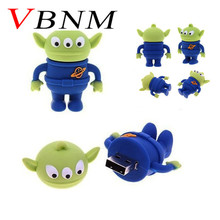 VBNM cartoon funny toy story Aliens USB Flash Drives thumb pendrive memory stick u disk pen drive 4GB 8GB 16GB Free shipping(China)