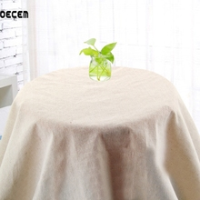 150*50CM Solid Color Natural Cotton Linen Fabric For Clothing Linen Tissus For Table Cloth Curtain Pillow OM24
