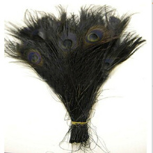 Free shipping 100 PCS black dyed peacock feather 10-12 inch / 25 to 30 cm peacock feathers for wedding decorations