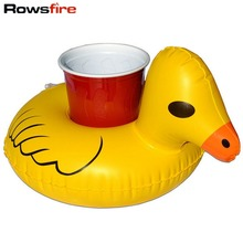 Rowsfire Inflatable Swimming Duck Cup Holder for Cola Cup/Cell Phone/Remote Controller Home Decor Swimming Pool Accessories