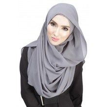 Chiffon Women Muslim Sheer Long Hijab Maxi Islamic Scarf Headwear Anti-Dust