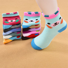 Three-dimensional ears baby socks Autumn and winter in the children's  Cute teddy bear baby socks private socks