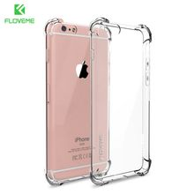FLOVEME Anti-knock Case for iPhone 6 6s Plus Case Silicone for iPhone 7 7 Plus Case Transparent Cover For iPhone 8 Plus X Cases(China)