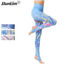 Buy 2018 Women Flower Printed Yoga Pant High Waist Elastic Yoga Legging Sports Tight Pants Fitness Running Leggings Sport Trousers for $15.94 in AliExpress store