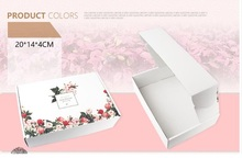 20*14*4cm White aircraft box carton flower printed box express clothing underwear gift cardboard box large craft paper box