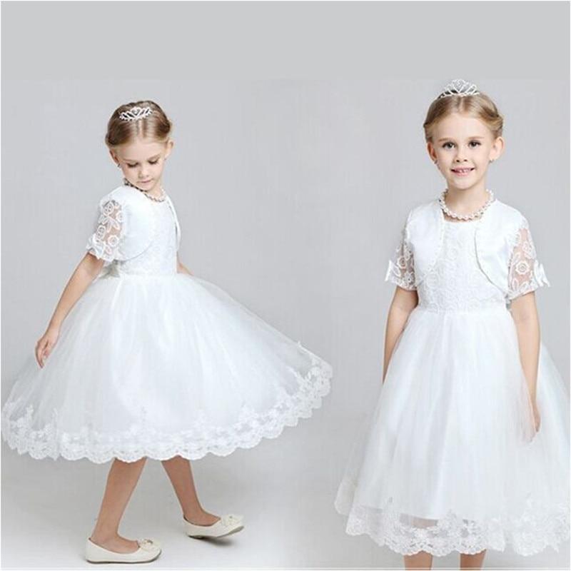 Children new summer girl dress elegant bow dress for pageant dance party ceremonies kids vestido christening jacket and dress<br><br>Aliexpress