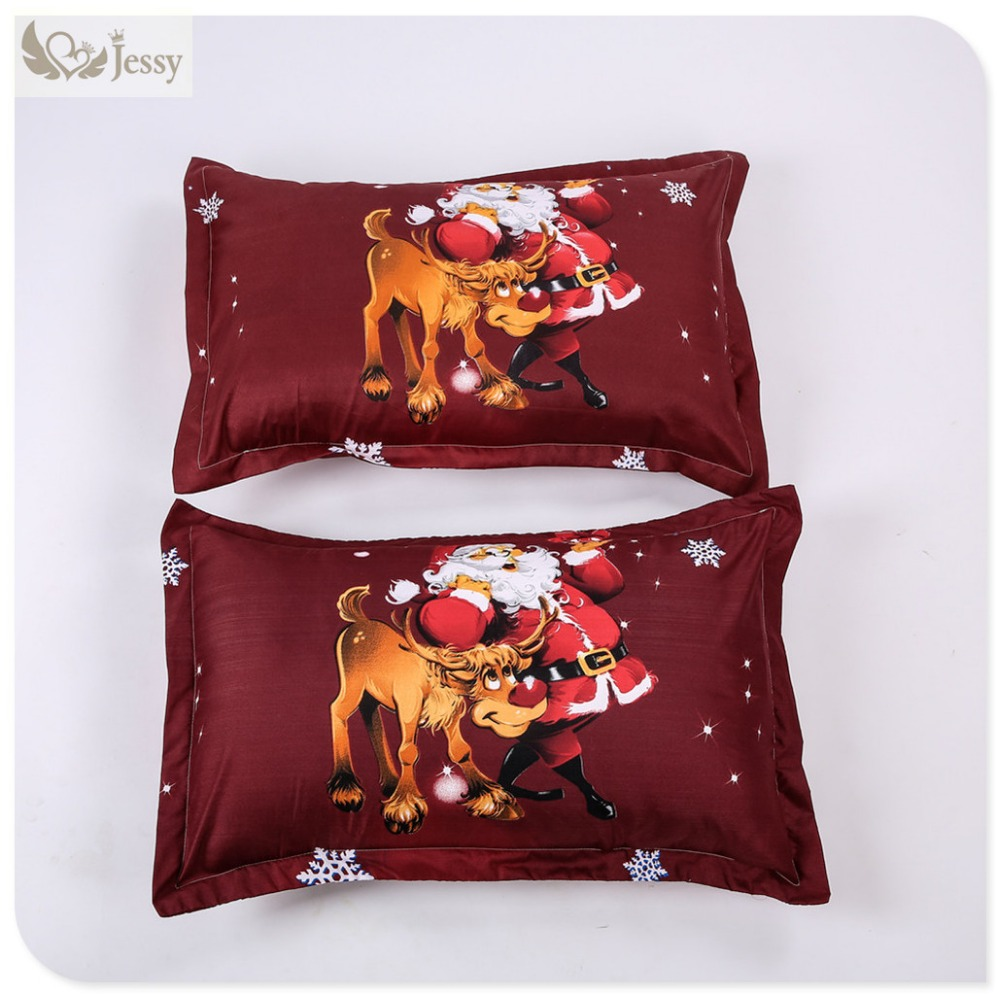 Great For Christmas, Set 4Pcs Christmas Santa Clause, 3D Bedding Set Duvet Cover Set,Sheet, Pillowcase, Sham Covers 27