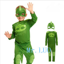 Cute Superhero  Masks Cape Set Gekko Owlette Catboy Kids Costume Party Kids Gifts Baby clothes outfit Set