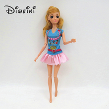 High Quality Fashion Handmade Clothes Dresses Barbie Doll Grows Outfit dress for girls Barbie Doll clothes Accessories wholesale(China)