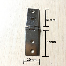 Iron Cabinet Door Luggage Rectangle Hinge,4 Holes Decor,Furniture Wooden Decoration,Vintage Silver Color,37*20*33mm,20Pcs(China)