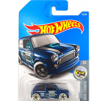 New Arrivals 2017 Hot Wheels 1:64 blue Morris Mini Metal Diecast Cars Collection Kids Toys Vehicle For Children Models(China)