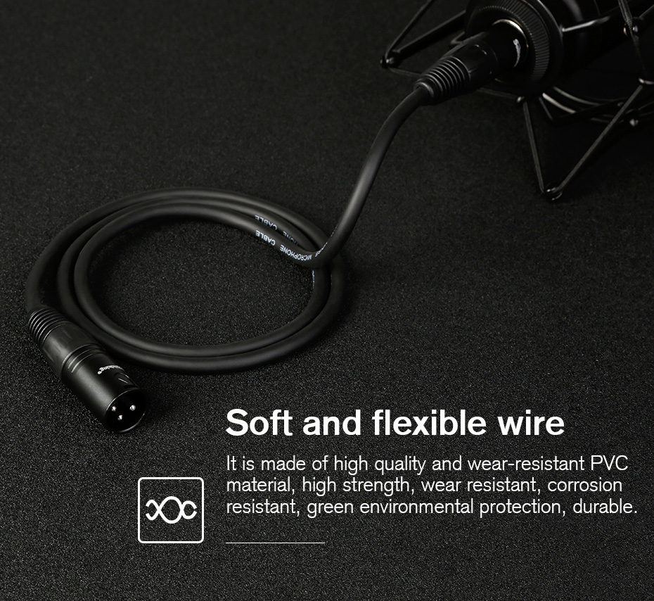 Soundking XLR Cable Microphone Audio Sound Cable XLR Male to Female Extension XLR Cable for Mixer Stereo Camera Amplifier B07